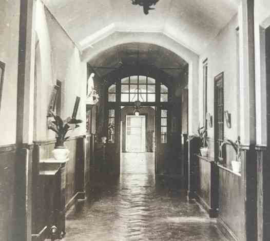 The main corridor off Main Reception - early 1900s