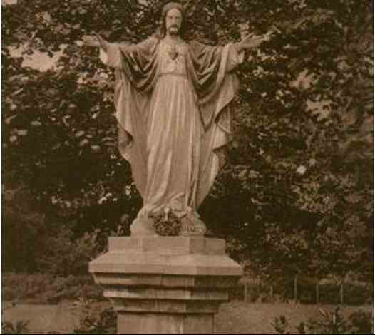 Statue in the Grounds presented by Father Higley - 1910